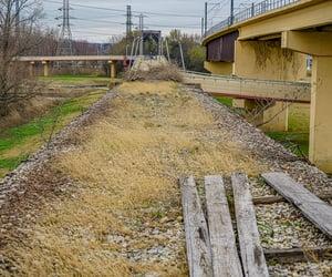 abandoned, urbex, and abandoned bridge image