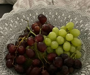 aesthetic, bed, and grapes image