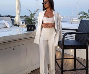 blazer, boats, and champagne image