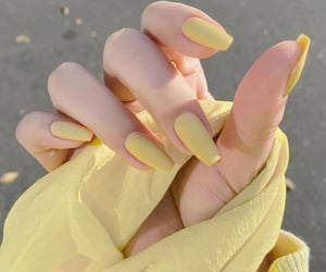 art, nails, and yellow image