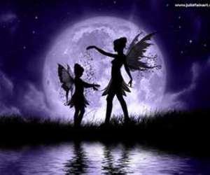 fairy, fantasy, and moon image