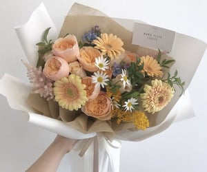 flowers, bouquet, and yellow image
