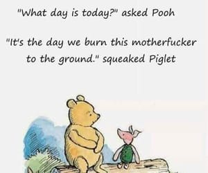 piglet, inspirational quote, and pooh image