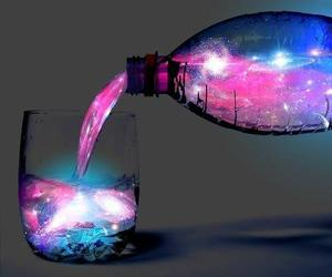 blue, bottle, and pink image