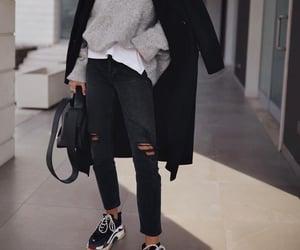 Balenciaga, black coat, and blogger image