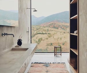 bathroom, view, and maroc image