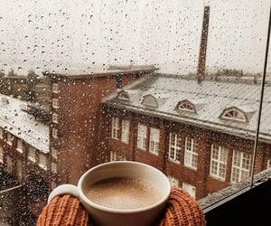 coffee, autumn, and rain image