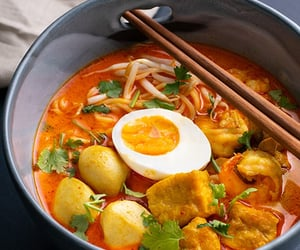 curry, egg, and eggs image