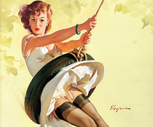 1960s, gil elvgren, and 1968 image
