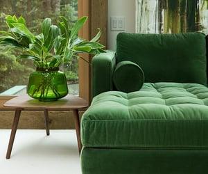 green, interior, and decor image