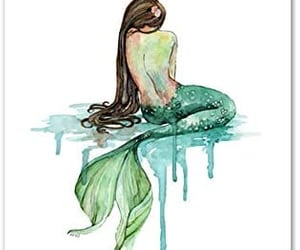 artsy, art, and mermaid image