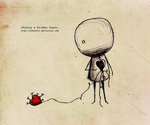 broken heart and cute image