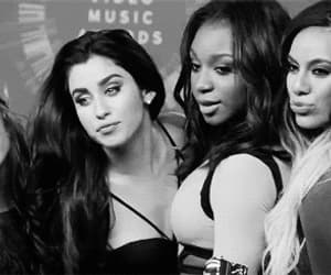 black and white, gif, and fifth harmony image