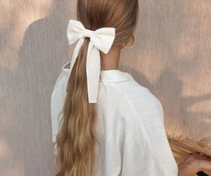 bow, earring, and hair image
