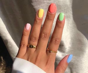 colorful, jewelry, and nails art image