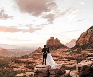 bride, nature, and wedding dress image