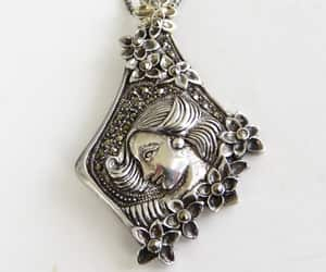 alphonse mucha, etsy, and art nouveau necklace image