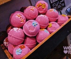 bath, lush, and pink image