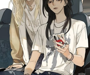 anime girl, girls love, and tamen de gushi image