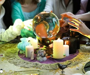 crystal ball, magic, and witch image