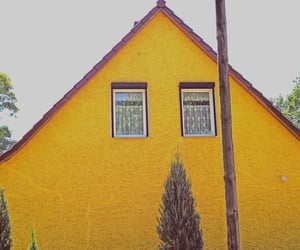 yellow, facade, and house image