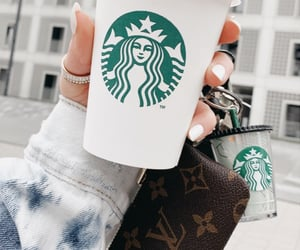 coffee, details, and Louis Vuitton image