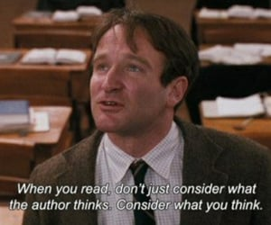 dead poets society, quotes, and robin williams image