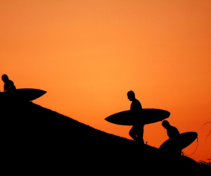 surfing, peace, and surf image