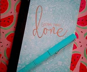 baby blue, journal, and paisley image