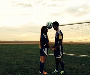 soccer, couple, and goals image