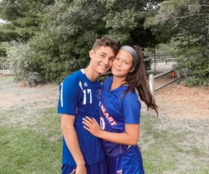 couple, cute, and soccer image