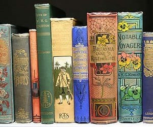 colorful old books image
