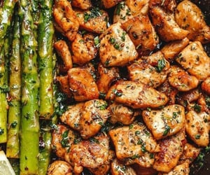 healthy food, Chicken, and dinner image
