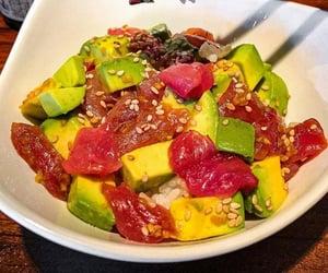 avocado, rice, and sesame seed image