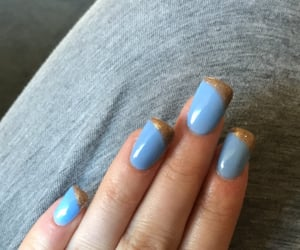 blue nails, nails, and party ready image