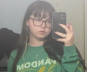 aesthetic, glasses, and bangs image