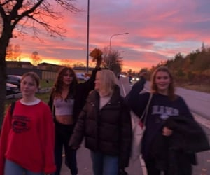 friendship and sunset image