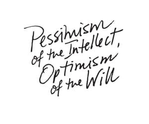 optimism, antonio gramsci, and inspirational image