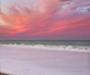 beach, sunset, and view image