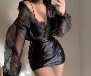 black, blouse, and fashion image