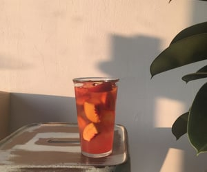 drink, peach, and aesthetic image
