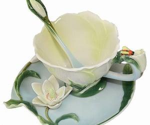 flower, white, and mug image
