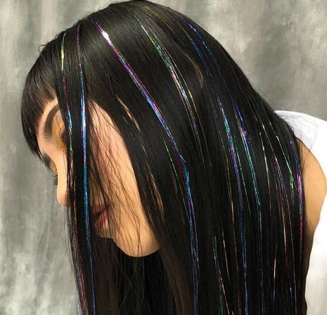 hair, alternative, and black hair image