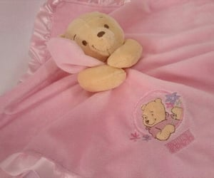 pillow, teddy bear, and pinkish image