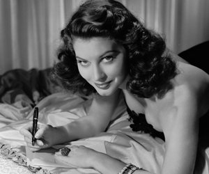ava gardner, black and white, and photography image