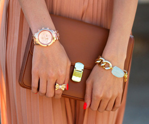fashion, bag, and gold image