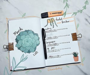 March bujo cover page and habit tracker from my ig @koreanfriedbujo, sticker link in bio
