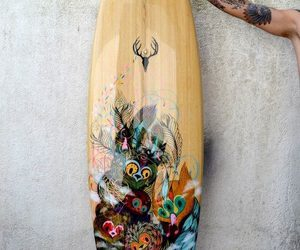 surfboard and owl image