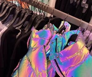 fashion, holographic, and jacket image