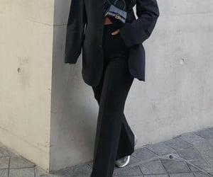 Balenciaga, street style, and black pants trousers image